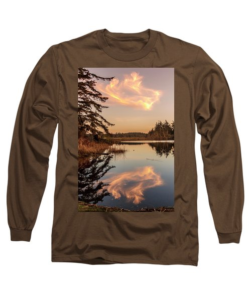 Cloud On Cranberry Lake Long Sleeve T-Shirt by Tony Locke