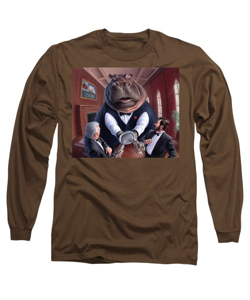 Clumsy Long Sleeve T-Shirt by Jerry LoFaro