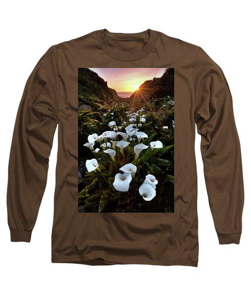 Coastal Calla Lilies Long Sleeve T-Shirt