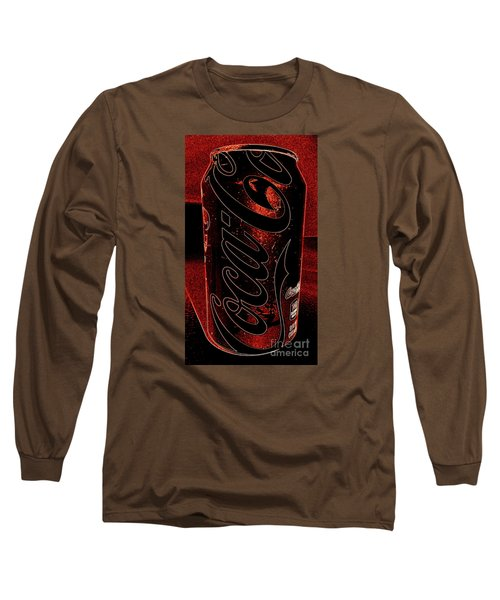 Long Sleeve T-Shirt featuring the photograph Coca Cola Can Coin Safe by Richard W Linford