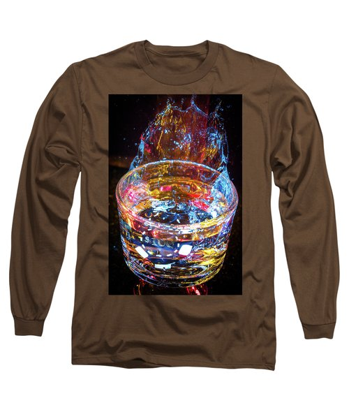Cocktail Chip Long Sleeve T-Shirt by Mark Dunton