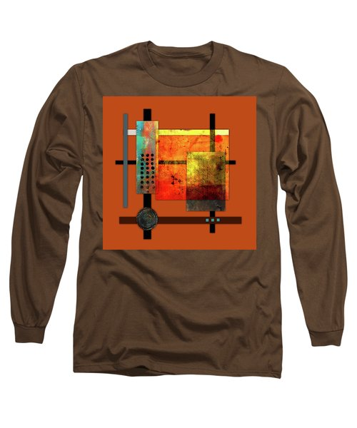 Collage Abstract 7 Long Sleeve T-Shirt by Patricia Lintner
