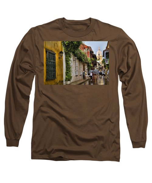 Colonial Buildings In Old Cartagena Colombia Long Sleeve T-Shirt