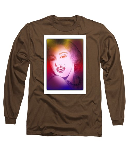 Color Rendition Of Marilyn Monroe #2 Long Sleeve T-Shirt