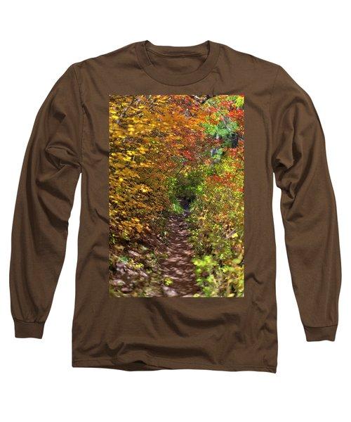 Cascade Mountain Range Color Vortex Long Sleeve T-Shirt