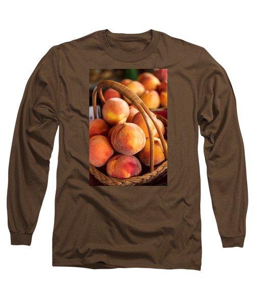 Colorado Peaches In Basket Long Sleeve T-Shirt