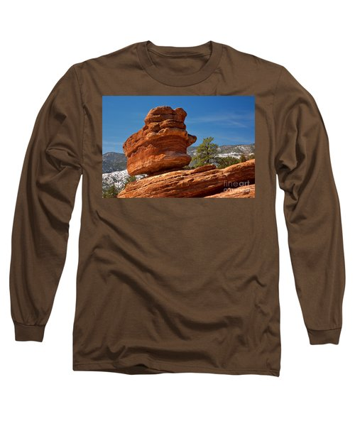 Long Sleeve T-Shirt featuring the photograph Colorado Springs Balanced Rock by Adam Jewell