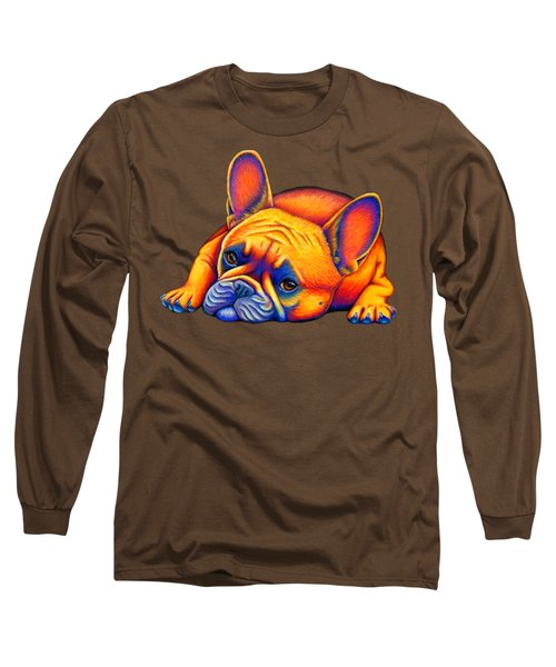 Colorful French Bulldog Long Sleeve T-Shirt