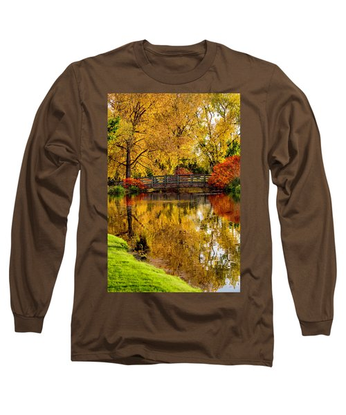 Colorful Reflections Long Sleeve T-Shirt by Kristal Kraft