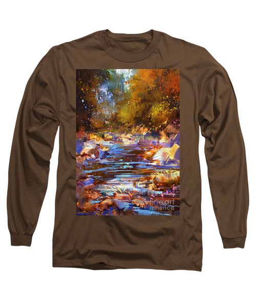 Colorful River Long Sleeve T-Shirt