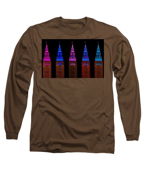 Colors Of The Terminal Tower Long Sleeve T-Shirt
