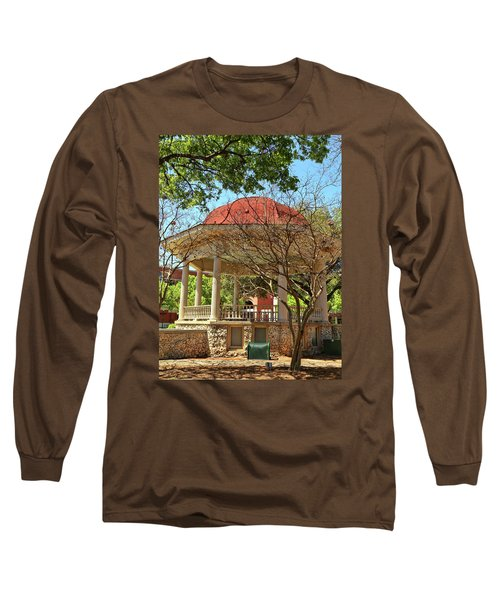 Comal County Gazebo In Main Plaza Long Sleeve T-Shirt by Judy Vincent