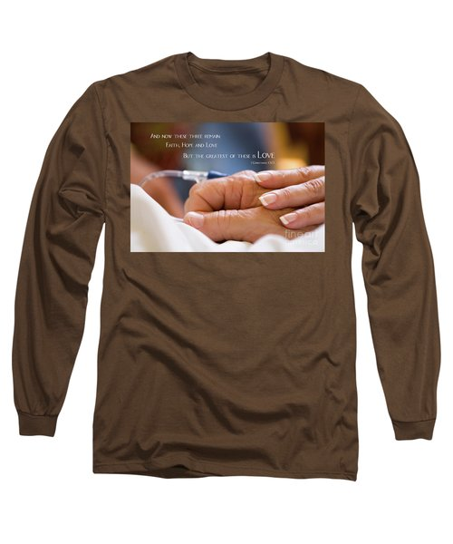 Comforting Hand Of Love Long Sleeve T-Shirt