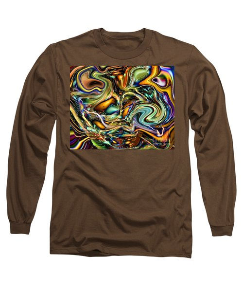 Commotion In The Motion Vii Long Sleeve T-Shirt by Jim Fitzpatrick