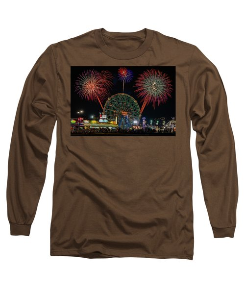 Coney Island At Night Fantasy Long Sleeve T-Shirt