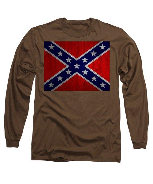 Confederate Flag Barn Door Long Sleeve T-Shirt