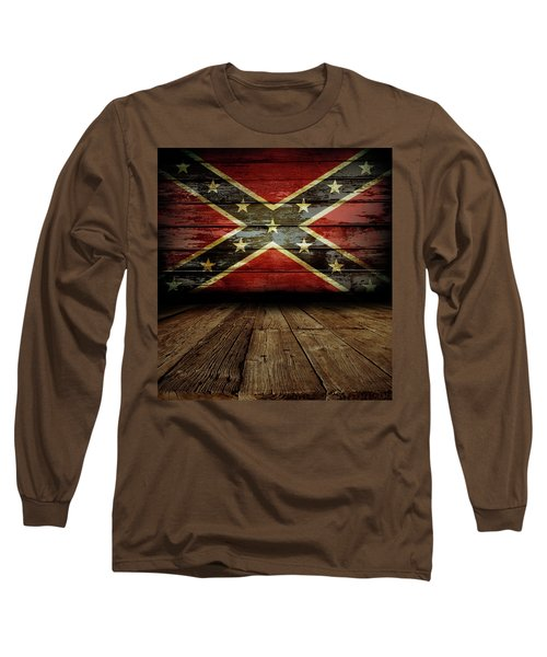 Confederate Flag On Wall Long Sleeve T-Shirt
