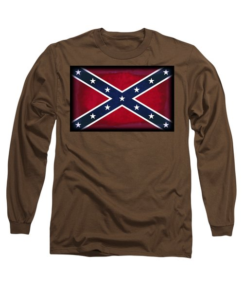 Confederate Rebel Battle Flag Long Sleeve T-Shirt by Daniel Hagerman