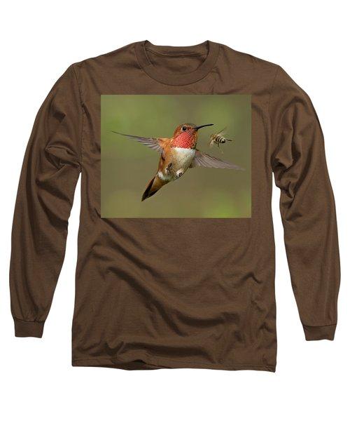 Confrontation Long Sleeve T-Shirt by Sheldon Bilsker