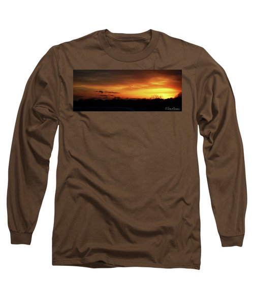 Connecticut Sunset Long Sleeve T-Shirt by Gordon Mooneyhan