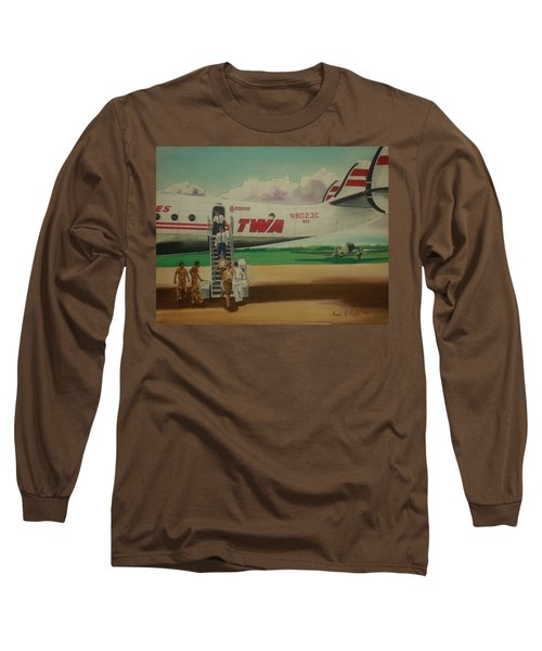Connie Crew Deplaning At Columbus Long Sleeve T-Shirt