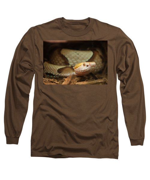 Long Sleeve T-Shirt featuring the digital art Copperhead by Chris Flees