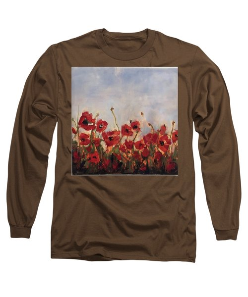 Corn Poppies In Remembrance Long Sleeve T-Shirt