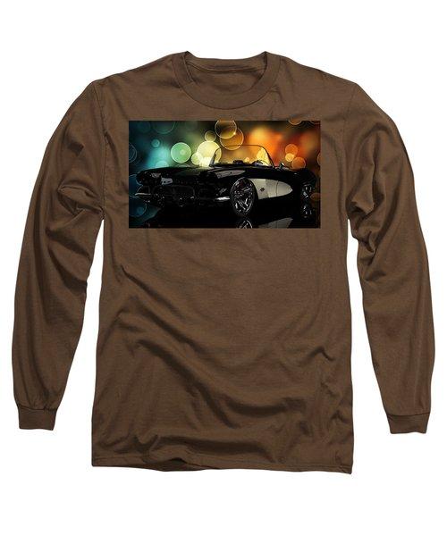 Corvette 1961 Long Sleeve T-Shirt by Louis Ferreira
