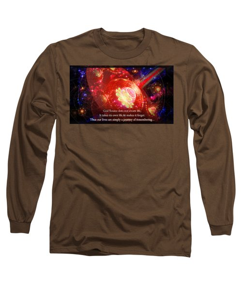 Long Sleeve T-Shirt featuring the mixed media Cosmic Inspiration God Source 2 by Shawn Dall