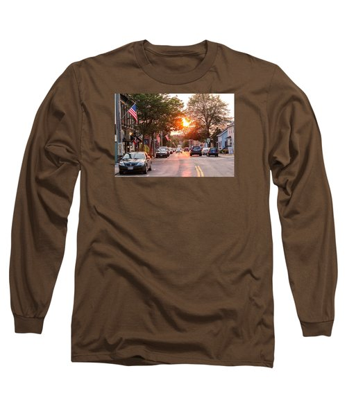 Cottage Street Summer Sunset Long Sleeve T-Shirt