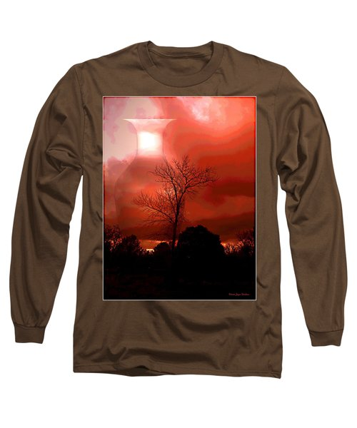 Long Sleeve T-Shirt featuring the photograph Cottonwood Crimson Sunset by Joyce Dickens