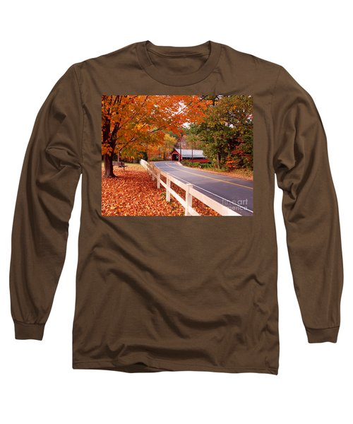 Covered Bridge In Brattleboro Vt Long Sleeve T-Shirt
