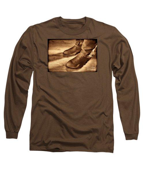 Cowboy Boots On Saloon Floor Long Sleeve T-Shirt