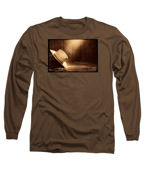 Cowboy Hat In The Old Barn Long Sleeve T-Shirt