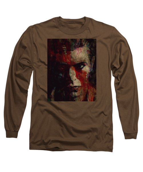 Cracked Actor Long Sleeve T-Shirt by Paul Lovering