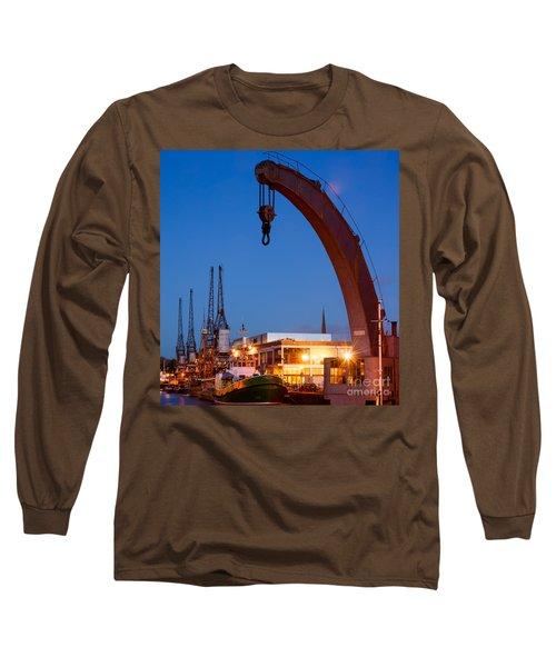 Cranes, Bristol Harbour Long Sleeve T-Shirt