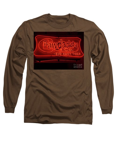 Long Sleeve T-Shirt featuring the photograph Craw Daddy Neon Sign by Steven Spak