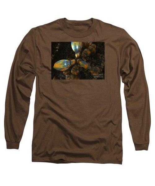 Long Sleeve T-Shirt featuring the digital art Crawdad by Melissa Messick