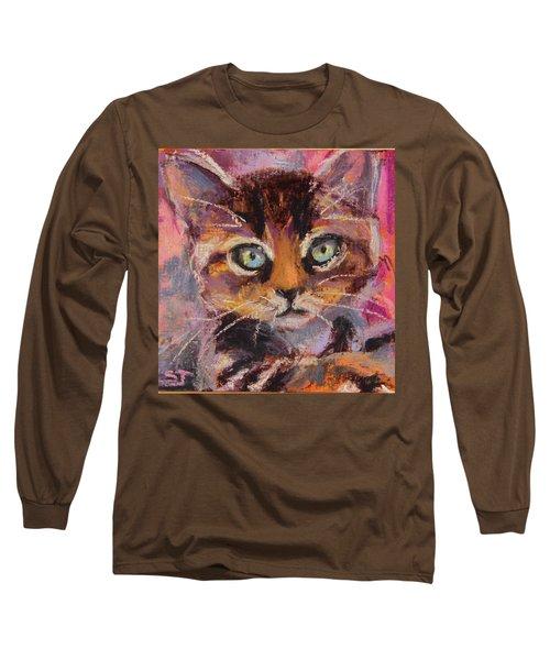 Crazy Cat Tabby  Long Sleeve T-Shirt