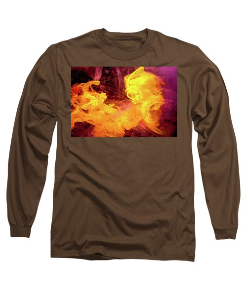 Crazy Chase - Purple And Yellow Abstract Photography Long Sleeve T-Shirt