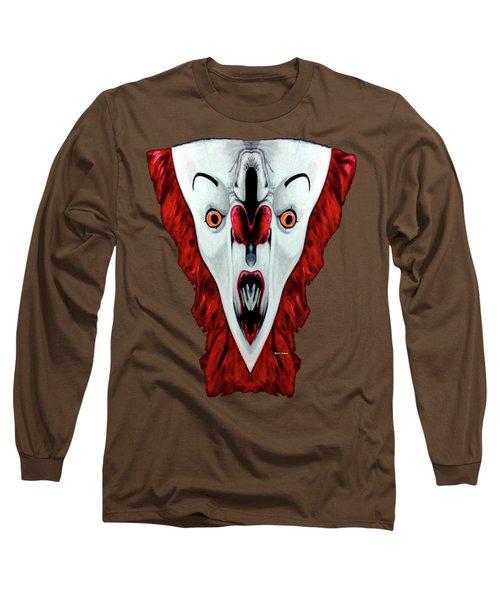 Creepy Clown 01215 Long Sleeve T-Shirt