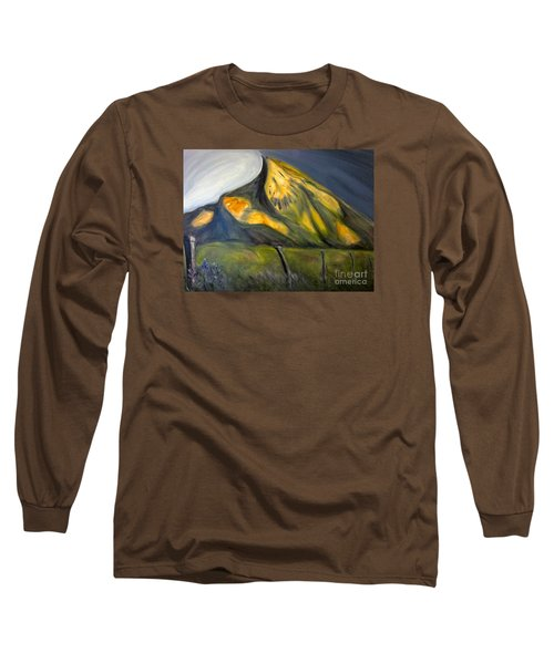 Crested Butte Mtn. Long Sleeve T-Shirt by Kathryn Barry