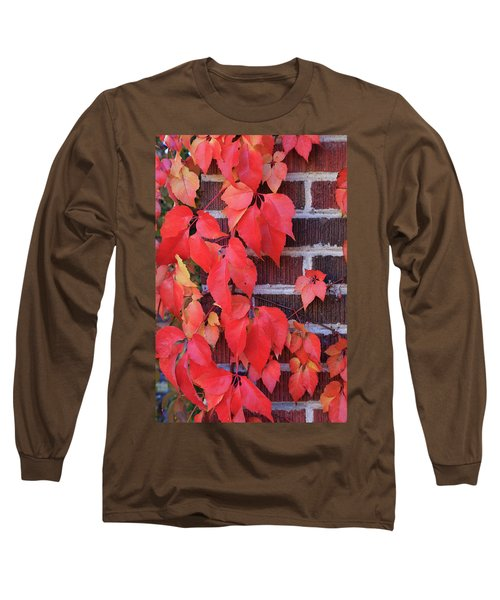 Crimson Leaves Long Sleeve T-Shirt