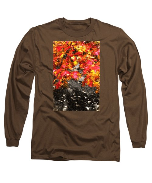 Crimson Splendor II Long Sleeve T-Shirt by Dan Carmichael