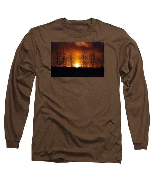 Crisp Sunset Long Sleeve T-Shirt by Dacia Doroff