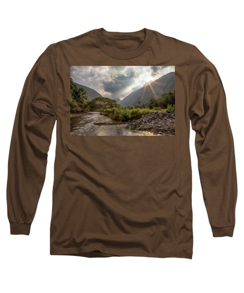 Crossing Hiilawe Stream Long Sleeve T-Shirt