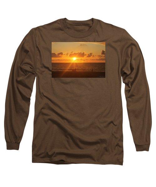 Crossing Paths Long Sleeve T-Shirt by Robert Banach