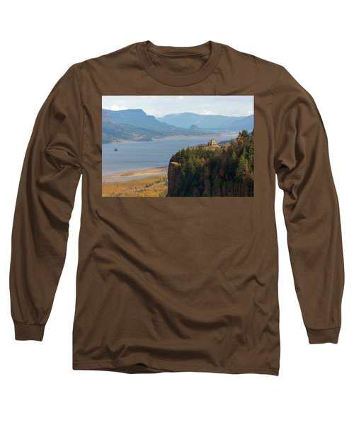Crown Point On Columbia River Gorge Long Sleeve T-Shirt