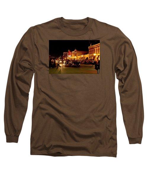 Cruise Night At The Car Show Long Sleeve T-Shirt by Karen McKenzie McAdoo