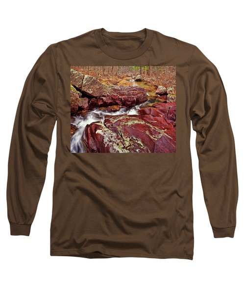 Cub Creek Shut-ins Long Sleeve T-Shirt by Robert Charity